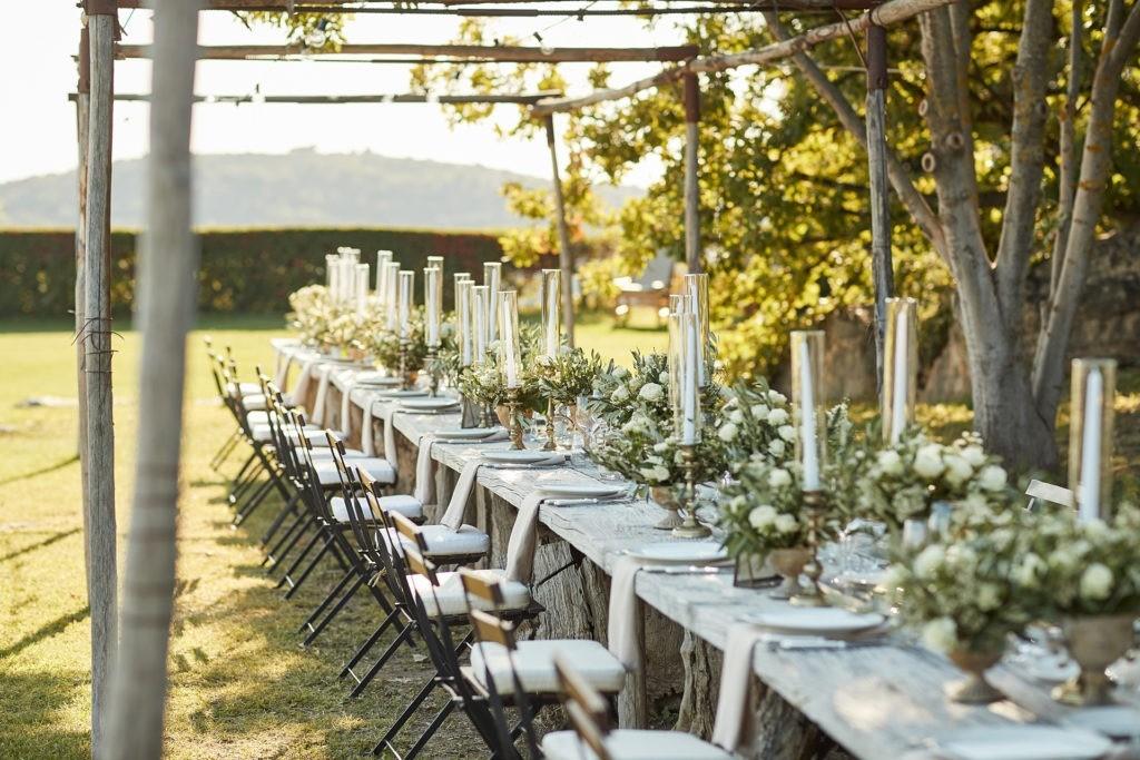 castello di vicarello wedding welcome dinner