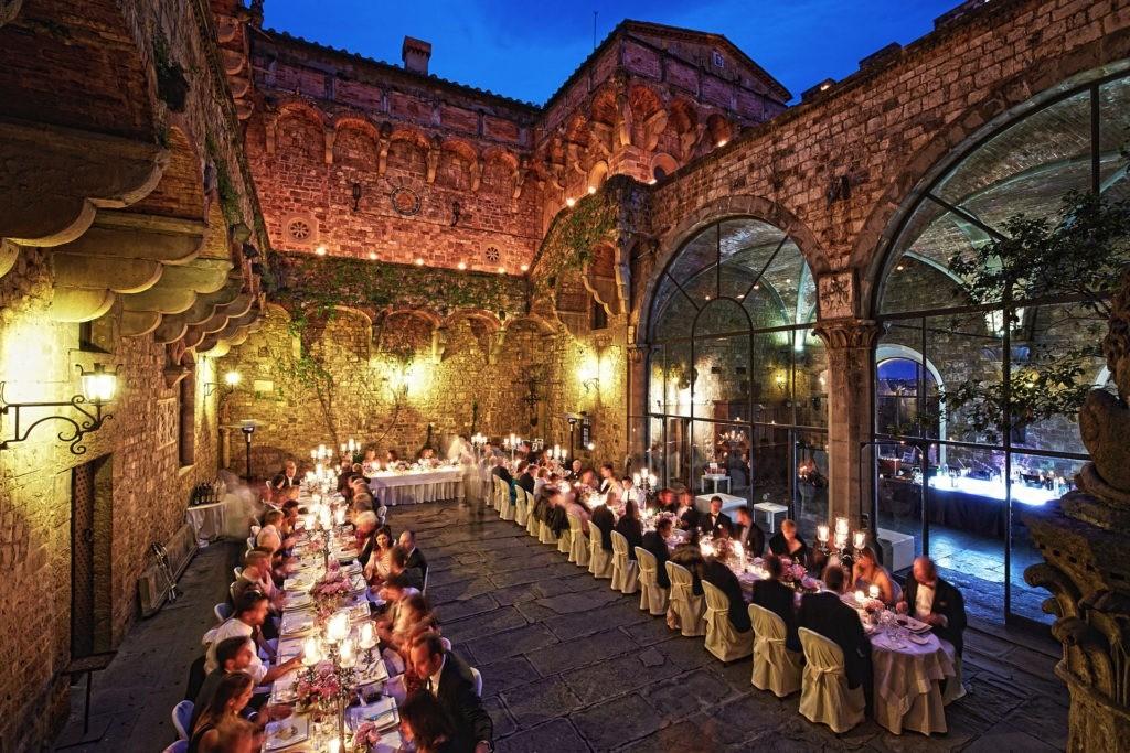 castello di vincigliata wedding garden ceremony