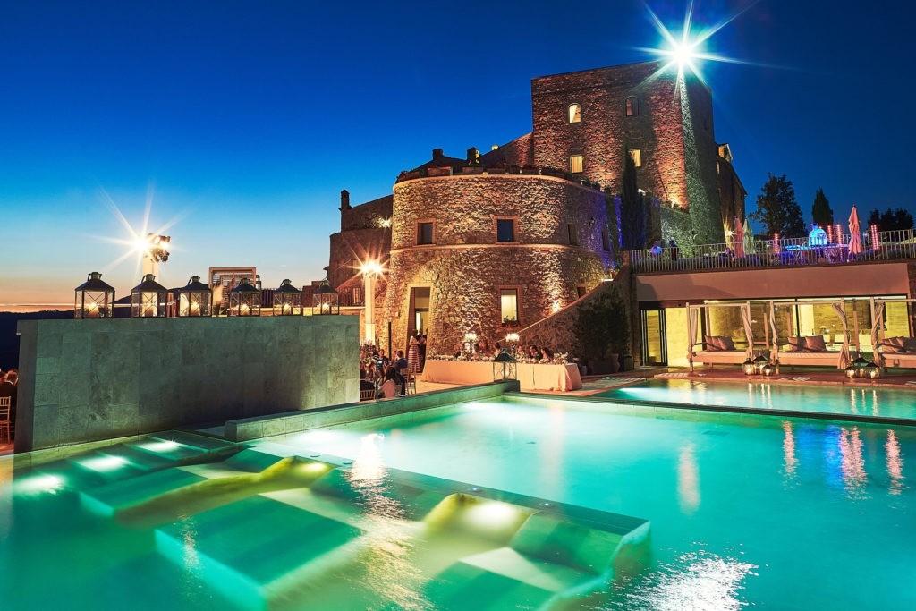 luxury castle wedding italy